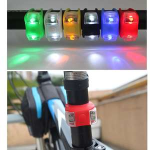 2PCS Baby Stroller Night Light Waterproof Silicone Caution lamp Outdoor Safety B36E
