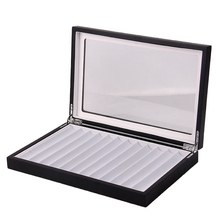12 Single-Layer Pen Box Storage Box Display Box Stationery Pen Collection High Quality Wooden Box Flannel Pencil Display Boxs