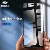 Benks HD VPRO cubierta completa curvada de vidrio templado para Huawei P20 Pro doblar a prueba de huellas dactilares Protector de pantalla frontal para película P20