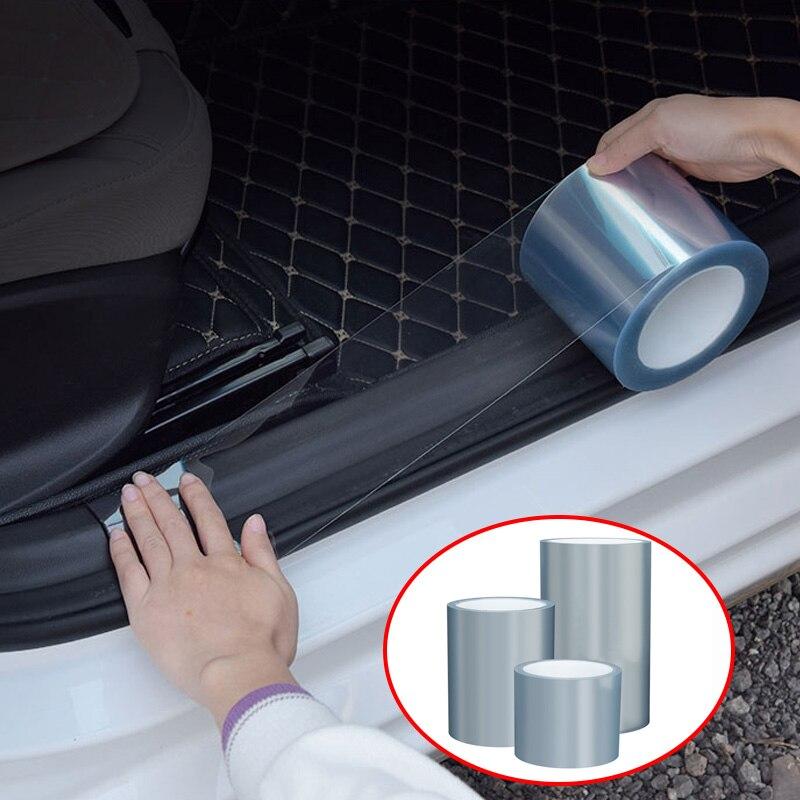 10*200cm 15*200cm 20*200cm Car Protective Film Anti-kick Film Door Threshold Bumper Hood Paint Protect Sticker Auto Accessory
