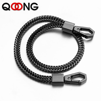 41cm Long Metal Wallet Belt Chain Rock Punk Trousers Hipster Pant Jean Keychain Black Ring Clip Keyring Men's Hip Hop Jewelry