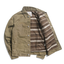 Warm Jacket Water-Proof Asian-Size Cotton Read RGT-0005 Wax Description Canvas Good-Quality