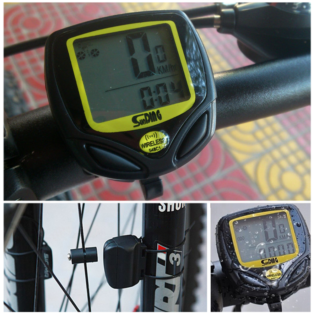 2019 1Pc Rainproof Bicycle Speedometer <font><b>Bike</b></font> Cycle Computer Wireless Cycling Computer Bicycle Speed <font><b>Bike</b></font> <font><b>Power</b></font> <font><b>Meter</b></font> Accessories image