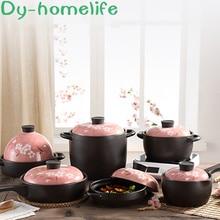 Multi-size Ceramic Casserole Japanese Multi-function Soup Pot Stew Pot Open Flame Heat-resistant Soup Pot Home Kitchen Supplies цена 2017