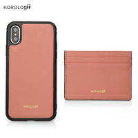 Horologii CUSTOM Name free Pink phone bag case for iphone 11 Pro Max with card holder dropship