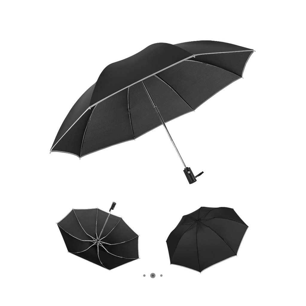 Double Layer Inverted Inverted Umbrella Is Light And Sturdy Paw Foot Reverse Umbrella And Windproof Umbrella Edge Night Reflection