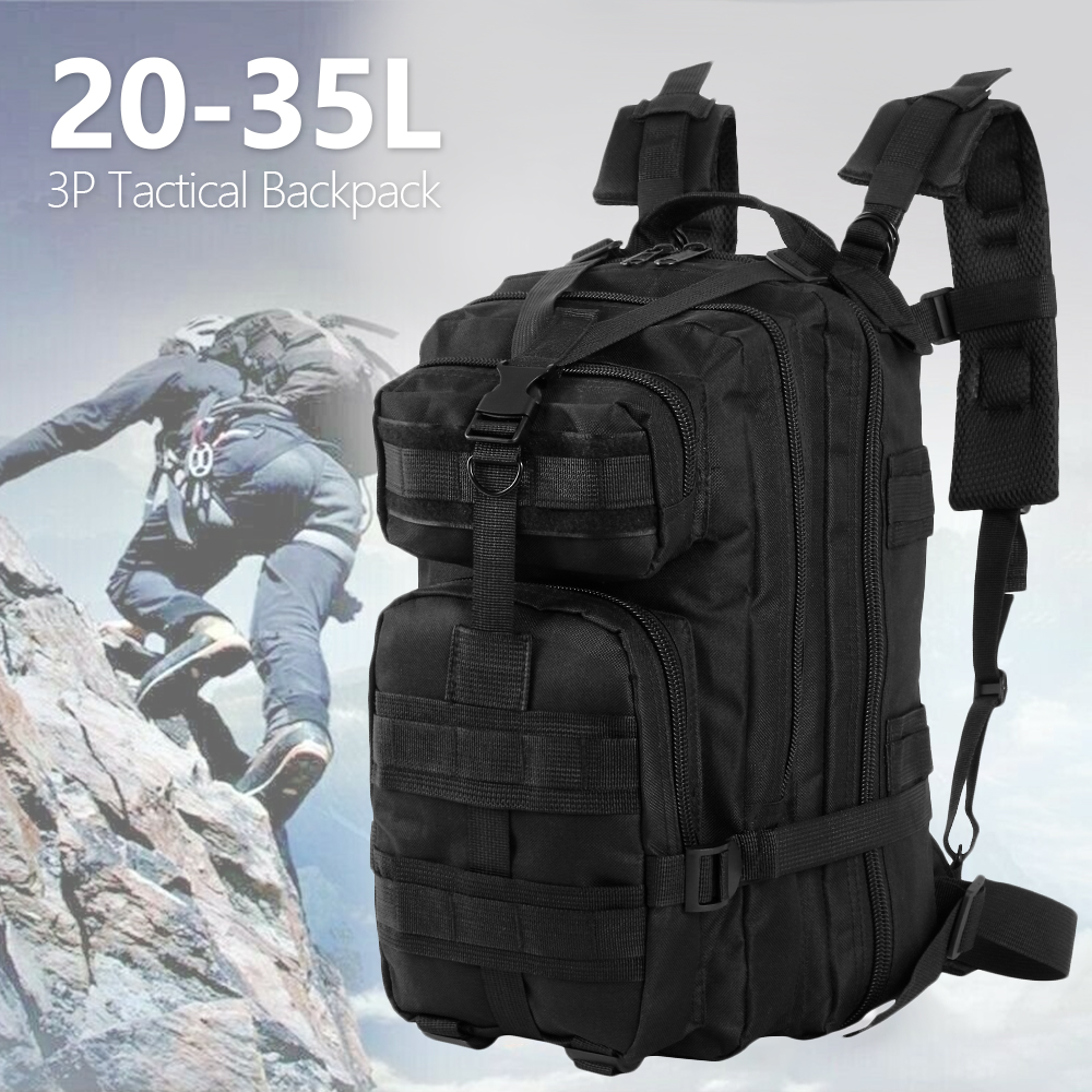 600D Nylon Tactical Military Backpack Waterproof Army Bag Outdoor Sports Rucksack Camping Hiking Fishing Hunting 30L Bag