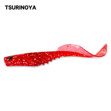 TSURINOYA Fishing Lure 120mm 7.8g Red Fish Soft Lure SUIT 3PCS High Good Quality Material 3D Eyes Sea Soft Bait
