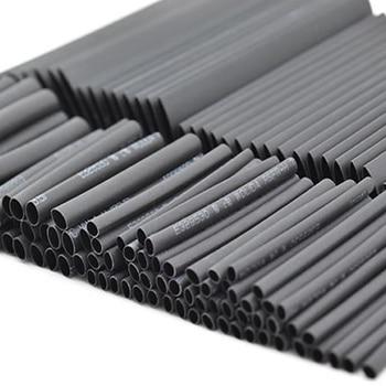 8 metros/set Kit de tubo termoretráctil 1/2/3/4/5/6/8/10mm 21 negro termoretráctil manguito envoltura Diy Cable conector