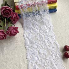 Ruban en coton blanc brodé et dentelle fait à la main, matériel de bricolage, 14cm, 1 cm, E1406