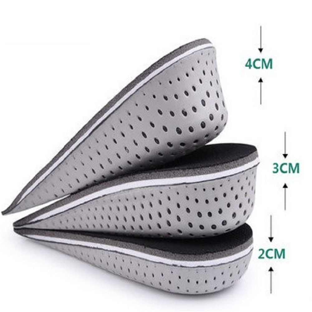 2-4 CM Half Insole Heighten Heel Insert Sports Shoes Pad Cushion Arch Support Height Increase Insole Orthopedic Insoles