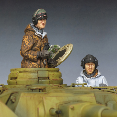 1/35 Panzer Crew Winter Set    Toy Resin Model Miniature Kit Unassembly Unpainted