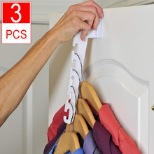 3 Pack Over Door Hangers Multi-functional Hook Fitting Two Sized Doors for All Round the House TV Item