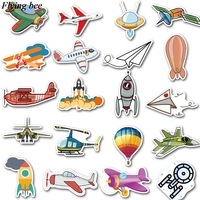 sticker motorcycle Flyingbee 40 pcs Flying gear Sticker hot air balloon Stickers for DIY Luggage Laptop Skateboard Car Motorcycle Stickers X0737 (4)