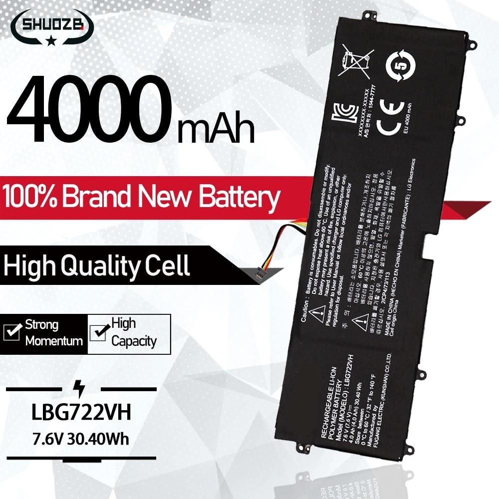 NEW LBG722VH Laptop Battery For LG 13Z940 14Z950 EAC62198201 13ZD940 14ZD960-GX5GK EAC621982 4000mAh 7.6V 30.40Wh ORIGINAL