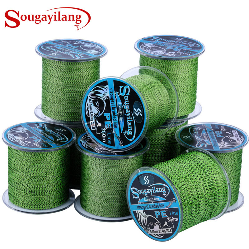 Sougayilang Braid Fishing Line 150M 350M 550M 4 Strands  Super Strong Speckled  Multifilament Fishing Wire Carp Fishing 20-78LB