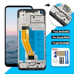 Для Samsung Galaxy A11 A115U SM-A115A ЖК-дисплей сенсорный экран дигитайзер стекло в сборе с рамкой