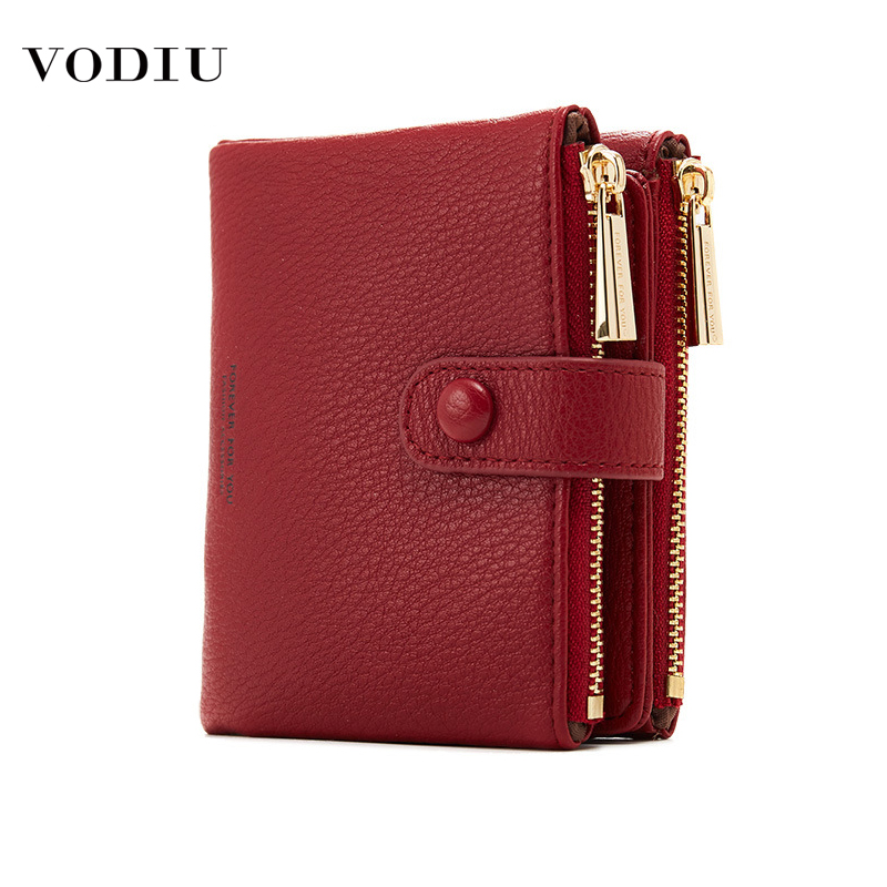 Women's Wallet Leather Purses Fashion Brand Designer Luxury Cute Zipper Multifunctional Card Coin Mini Short Wallet Women Purse