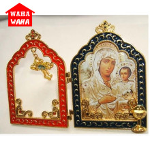 С изображением католической святыни, артикул 24 k, золото-цвет покрытия, Девы Марии из Вьетнама и Иисуса,, религиозная икона, Христианский Религиозный подарок