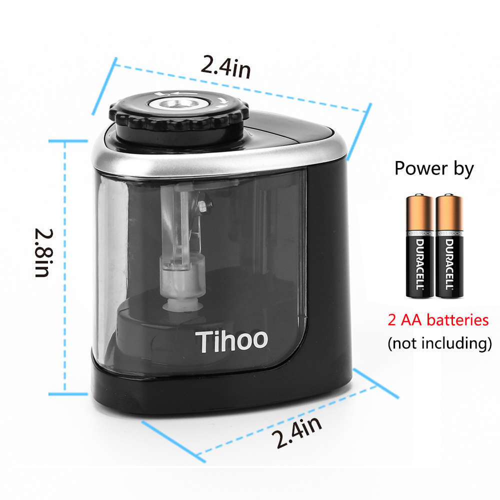 Electric Auto Pencil Sharpener Touch Switch Pencil Sharpener For 6-8mm Pencil and Color Pencil School Office Home Stationery 6