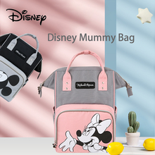 Genuine Disney Mickey Minnie USB Diaper Bags Large Capacity Mummy Maternity Nappy Bag Baby Travel Backpack for Baby Care Wet Bag