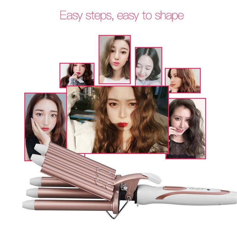 Profissional modelador de cabelo cerâmica cinco barris