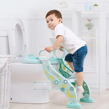 Baby Potty For Kids Travel Folding Portable Toilet WC Training Seat With Ladder Children Urinal Cushion Pot Chair Pad Mat 19Jul(China)