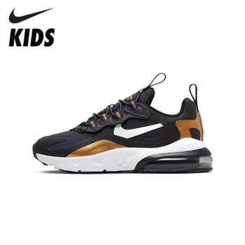 Nike air max 270 rt (ps) crianças sapatos originais nova chegada tênis de corrida ginásio esportes # bq0102