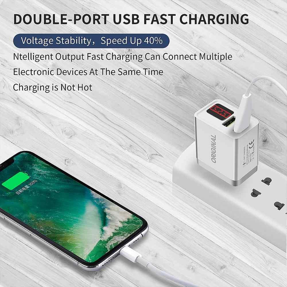 GOOJODOQ 液晶デジタルディスプレイの Usb 充電器 5V 3.1A 最大急速充電器サムスン Xiaomi Huawei 社充電 iphone の充電器アダプタ