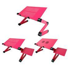 Table pliante réglable et ventilée à bureau dordinateur Portable pour ordinateur Portable, plateau de support pour canapé lit Portable, pour la maison