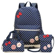 School Bags For Girls Kids Cute Printing Backpack 3pcs/set Children Schoolbags Fashion Girl Backpacks Travel Bag