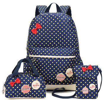 School Bags For Girls Kids Cute Printing School Backpack 3pcs/set Children Schoolbags Fashion Girl Backpacks Kids Travel Bag fengdong brand fashion black mini backpack for girls school bags children backpacks kids bag cute small backpack female bagpack
