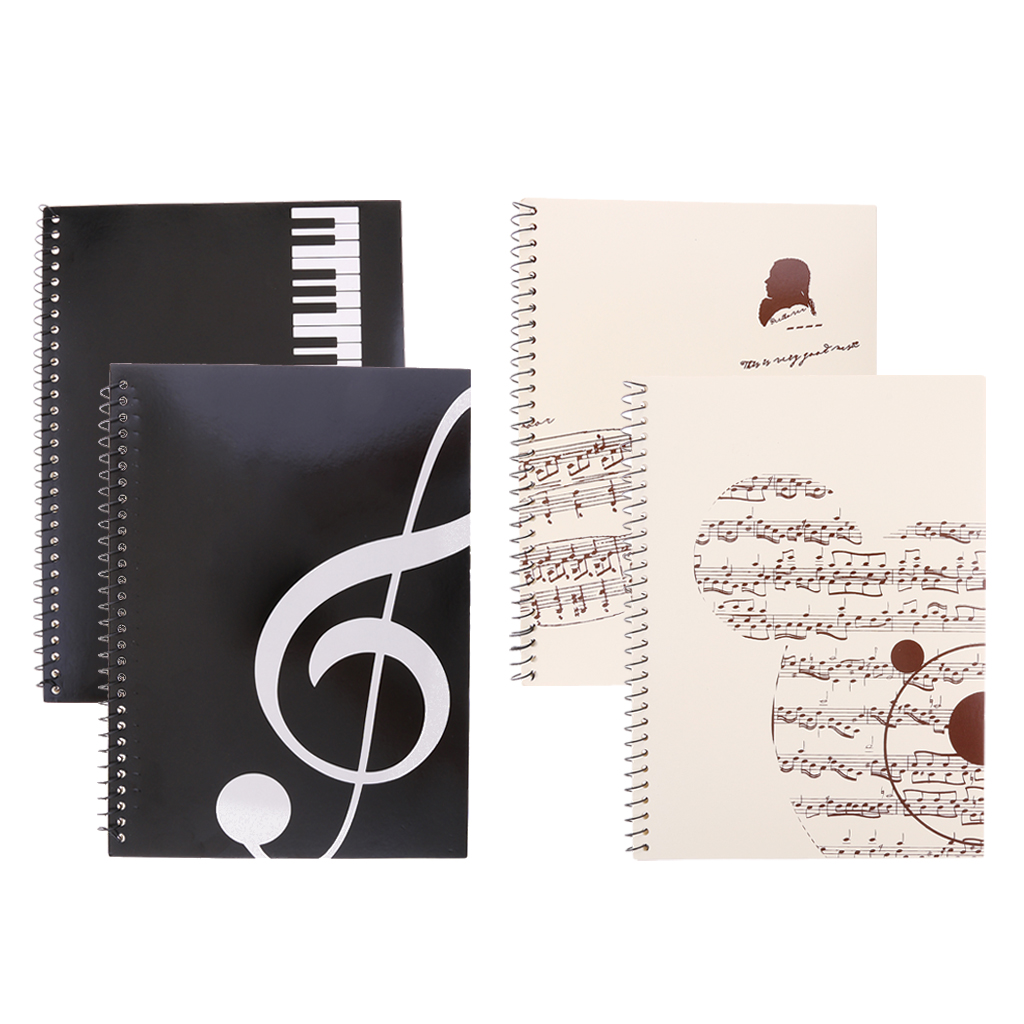 Set Of 4 Pieces Blank Sheet Music Composition Manuscript Staff Paper Art Music Notebooks Musicians Gifts A4 50 Pages