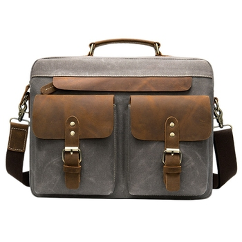 LJL-Men Briefcases Men's Bag Genuine Leather Business Office Bags for Men Laptop Bag Leather Briefcases Male Lawyer Bags