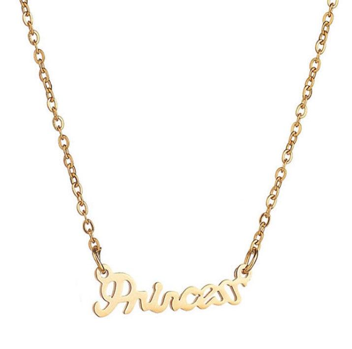Ожерелье принцессы с английским алфавитом из нержавеющей стали 316L, ожерелье «сделай сам», размер клиента, не выцветает
