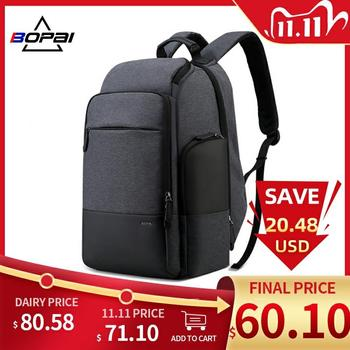 BOPAI Brand Travel Backpack Men High Capacity Multifunction USB Charging for 17Inch Laptop Anti Theft Business
