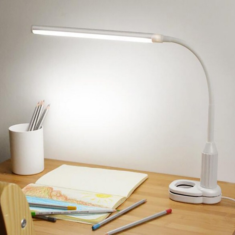 LEDs Clamp Clip Light Protect Eye Table Lamp Stepless Dimmable Bendable USB Powered Touch Sensor Control Led Table Lamp