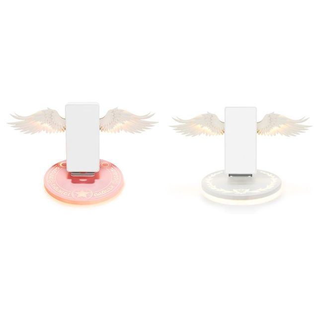 10W Universal Colorful LED Angel Wings Qi Wireless Charger Charge Dock For iPhone 8 Plus X XS MAX XR Mobile Phone Fast Charger 2