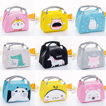 Cartoon Animal Lunch Bag Tote Thermal Food Bag Women Kids Lunchbox Picnic Supplies Insulated Cooler Bags 21*17*15cm 1