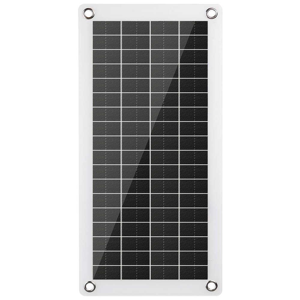Panel Solar de 12V Semi-flexible, dos reguladores USB, Banco de energía, placa externa de carga de batería, placa Solar portátil, cargador de coche