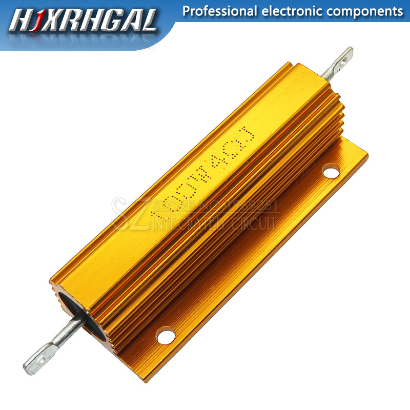 100W Aluminum Power Metal Shell Case Wirewound Resistor 0.01 ~ 100K 0.05 0.1 0.5 1 2 4 6 8 10 20 100 150 200 300 500 1K 10K Ohm