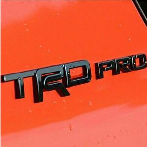 Image 5 - Toyota TRD Pro 로고 용 자동차 펜더 스티커 도어 배지 액세서리 Camry Auris Yaris Rav4 Prius Prado Land Cruiser CHR