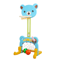 Baby Sport Game Basketball Stands Football Gate Little Bear Toy Can be Adjust heights Indoor