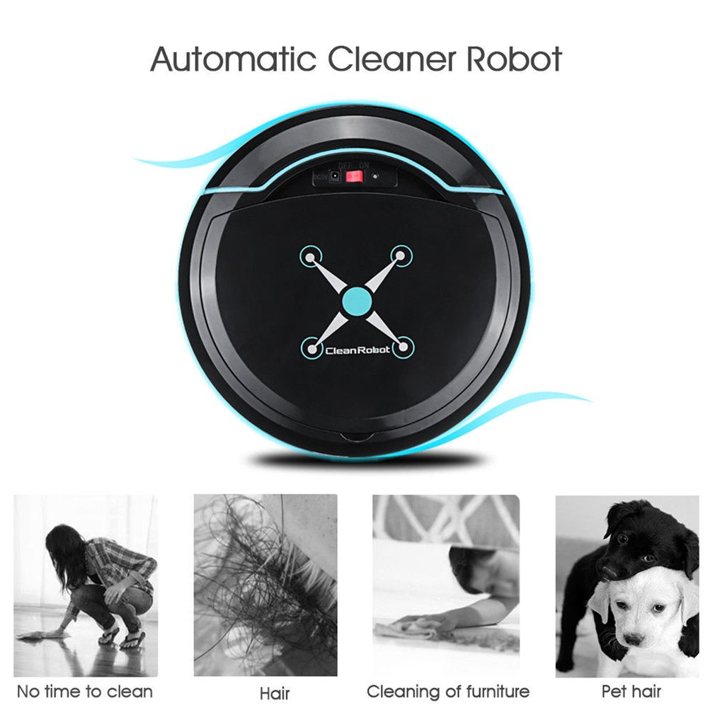 H5760b6db83354fa5af31556fcf379a1bj Automatic Smart Robot Vacuum Cleaner Small Vacuum Cleaners Sweeping Robot Floor Dirt Auto Home USB Rechargeable Cleaning Machine