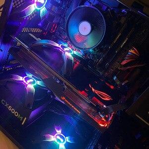 Image 2 - DarkFlash RGB PC boîtier ventilateur ordinateur de bureau Ultra silencieux haut débit dair sans cadre refroidisseur refroidissement 12V 4pin ventilateurs de jeu châssis cas
