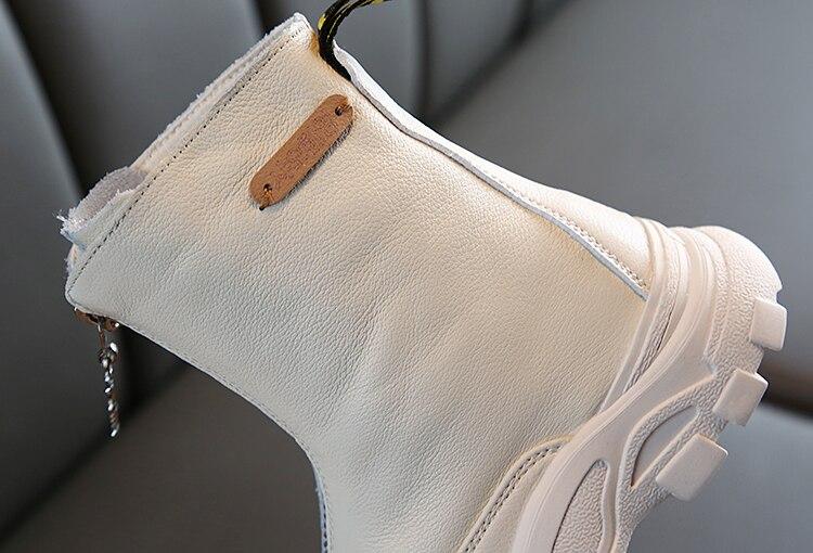 couro genuíno martin botas anti-chute macio inferior