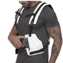 Мужская спортивная одежда, регулируемый безопасный тактический жилет с высокой видимостью, жилет для спортзала, светоотражающий спортивный костюм для бега