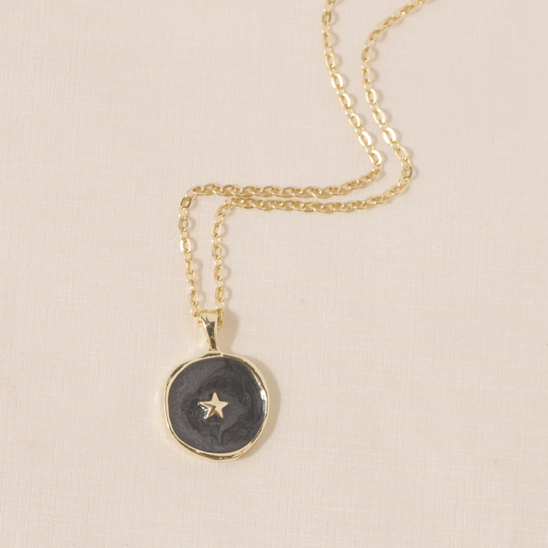 Moon Star Lightning Pendant Necklace for Women Engagement Party Jewelry Chains Necklace Korean Fashion Choker Gifts