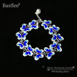 Blue Butterfly 999 Sterling Si