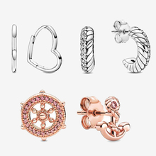 2020 New 925 Sterling Silver Earrings Pave Snake Chain Pattern Stud Earrings Women Sterling Silver Jewelry Gift